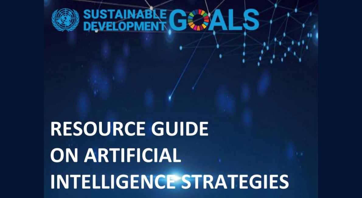 Cover of the UN resource guide for Strategies on AI.